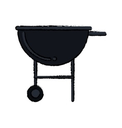 Silhouette bbq grill party american football vector