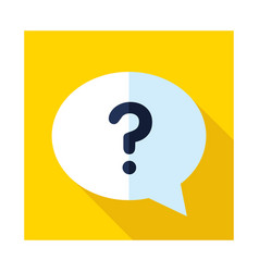 Speech bubble with question mark icon vector