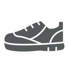 sport shoes glyph icon footwear and shoe sneaker vector image