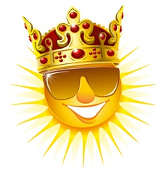 sun in a golden crown vector image