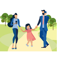 the child suffers from indifferent parents in vector image