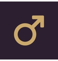 The male icon Man symbol Flat vector image