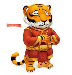 tiger funny animal in chinese zodiac chinese vector image