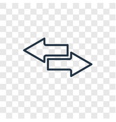 Transfer concept linear icon isolated on vector