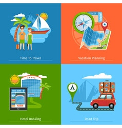 Travel Concept Banners Set vector