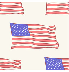 Usa flag icon pattern seamless tile vector