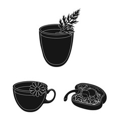 vegetarian dish black icons in set collection for vector image