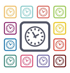 watch flat icons set vector image