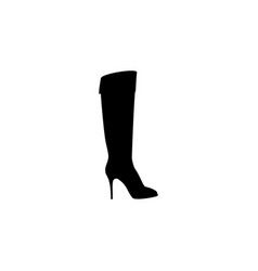 women high heel boots icon black on white vector image