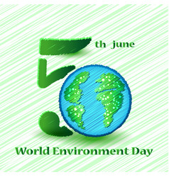 World environment day sign on colorful background vector