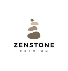 zen balancing stone logo icon vector image