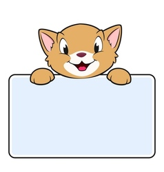 Cartoon Banner Cat vector image vector image