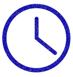 clock icon grunge watermark vector image