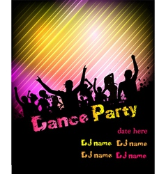dance party poster vector image
