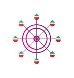 ferris wheel icon isolated vector image vector image