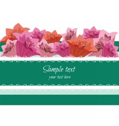 Greeting Card with Spring Summer flowers vector image vector image