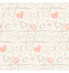 Grunge seamless pattern with hand painted vector image vector image