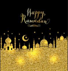 muslim abstract greeting banner islamic vector image vector image