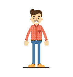 positive adult man in shirt and pants vector image vector image