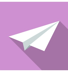 Colorful paper plane icon in modern flat style vector image vector image