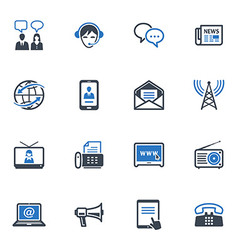 Communication Icons Set 2 - Blue Series vector image vector image