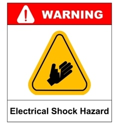 high voltage sign or electrical safety sign danger vector image vector image