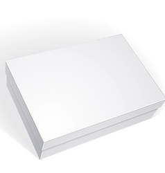 Package white box design isolated on white vector image vector image