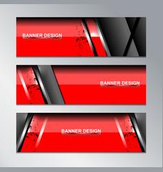 red banner template modern design vector image
