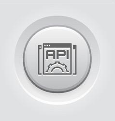 Settings api icon flat design vector