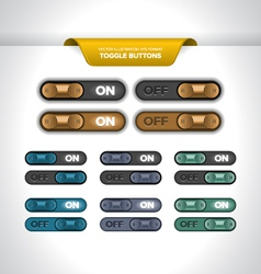 Toggle Buttons vector image