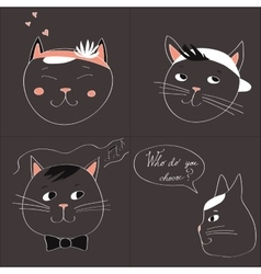 with the image of four cats and text vector image vector image