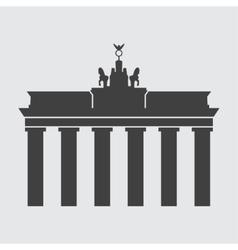 Brandenburg gate icon vector image vector image