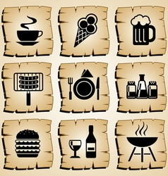 icons food vector image