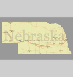 nebraska state map with community assistance and vector image vector image