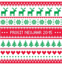 Prosit Neujahr 2015 - Happy New Year in German pa vector image vector image