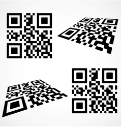 Simple qr code vector image