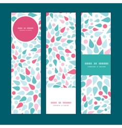 Abstract colorful drops vertical banners vector