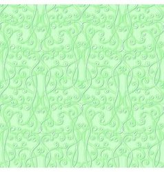 abstract floral green seamless background vector image