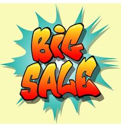 big sale sign vector image vector image