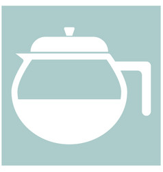 Capacity for hot drinks black the white color vector