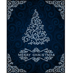 Christmas card with abstract pinetree vector image vector image
