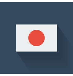 Flat flag of japan vector