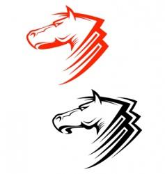 horses symbols vector image