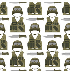 military modern camouflage helmet army protection vector image