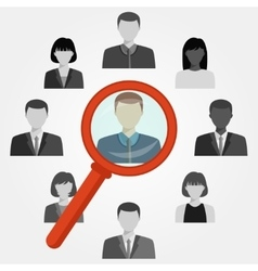 Search employee for recruitment agency vector image