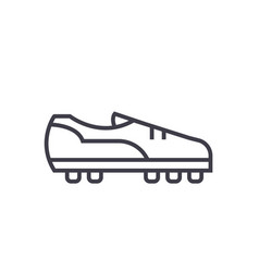 soccer boot flat line concept vector image vector image