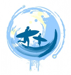 surfers vector image vector image