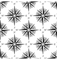 Vintage nautical compass seamless pattern vector image vector image