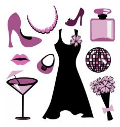 woman accessories set vector image vector image