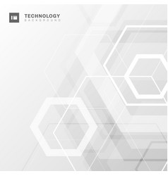 abstract geometric hexagon shape technology vector image